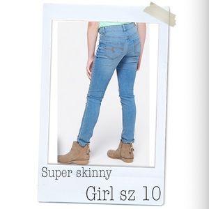 Justice super skinny girl jeans